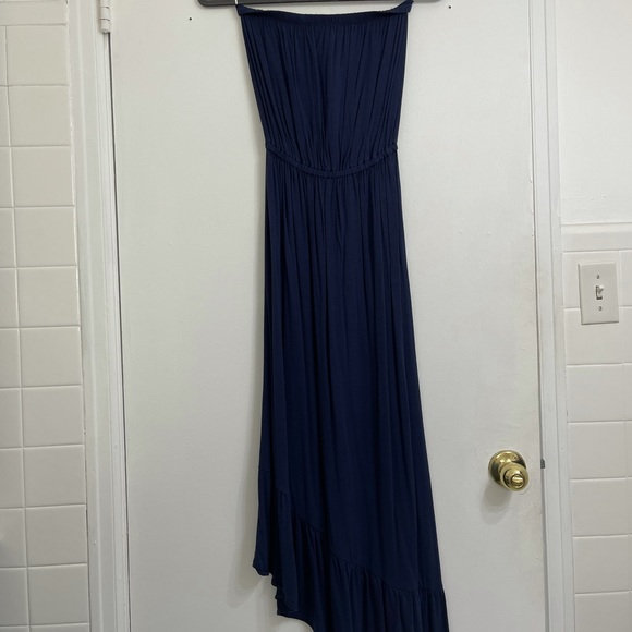 Lilly Pulitzer Navy Strapless Sun Maxi